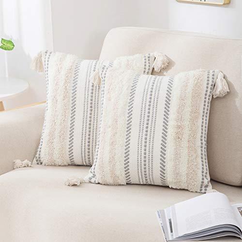 decorUhome Set of 2 Boho Decorative Throw Pillow...