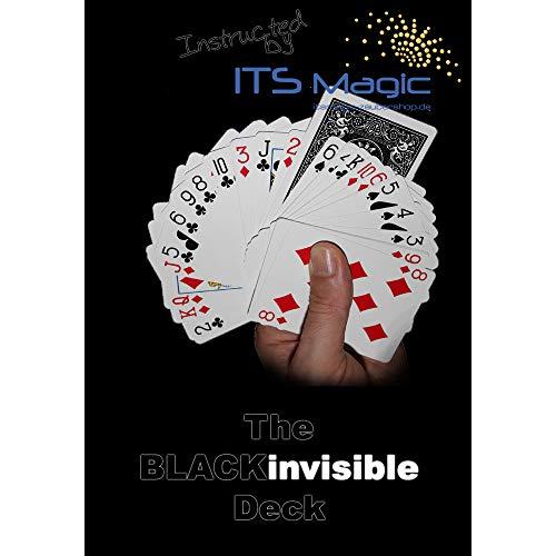Bicycle Invisible Deck BLACK Edition | Das Unsichtbare Kartenspiel mit schwarzen Rückseiten | Zaubertrick mit Anleitung in DEUTSCH v. Its Magic Zaubershop | Spielkarten für Zauberkasten | Kartentricks