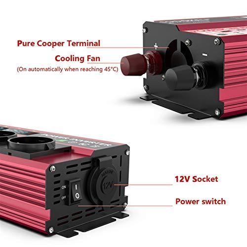 GAOLE Inversor de soldadura 6000W modificó el inversor de la onda sinusoidal 800W para el automóvil RV Boat DC 12V 24V a 120V 220V (Color : 800W Surge 6000W, Input Voltage : 24V)