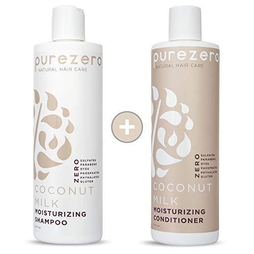 Purezero Coconut Milk Shampoo & Conditioner Set