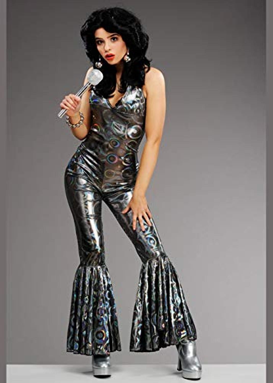 marca famosa Magic Box Disfraz de Traje Plateado de Diva de 1970 1970 1970 para Mujer. Small (UK 8-10)  servicio considerado