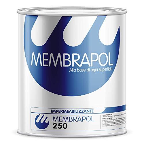 Impermeabilizzante poliuretanico Membrapol 250 elasticità  800% PROFESSIONALE (1 kg)