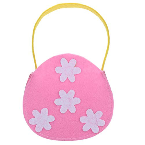 Iusun Easter Small Flower Candy Bag Creative Portable Holder Present Home Accessory Organizer Pouch Xmas Cartoon for Chocolates Candies Biscuits Home Decor Supplies Gift (Pink)