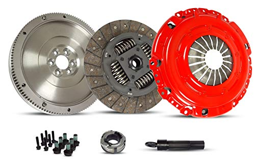 Clutch And Flywheel Conversion Kit Compatible With Beetle Jetta Rabbit TDI 2.5 Wolfsburg Value Edition Gl Gls S Se Sport Hot Wheels 2005-2010 2.5L L5 GAS DOHC (Stage 1; 17-065RSMF)