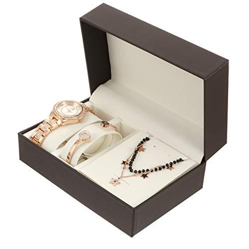 UKCOCO Conjunto de Relojes de Joyería para Mujer Regalo del Día de San Valentín con Relojes Collar de Pulsera para Mujeres Y Niñas