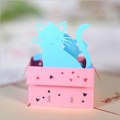 7777777 3D Stereo wenskaart Kat Box wenskaart creatieve Thanksgiving wenskaart 10 Pack