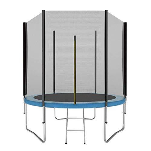 ZHAOJBC Fitnessruimte Trampoline met veiligheidsbehuizing en Ladder 183cm voor binnen/buiten - Max Load 200KG