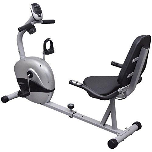 Festnight Cyclette reclinata orizzonatale 3 kg con volano ad impulso Magnetico