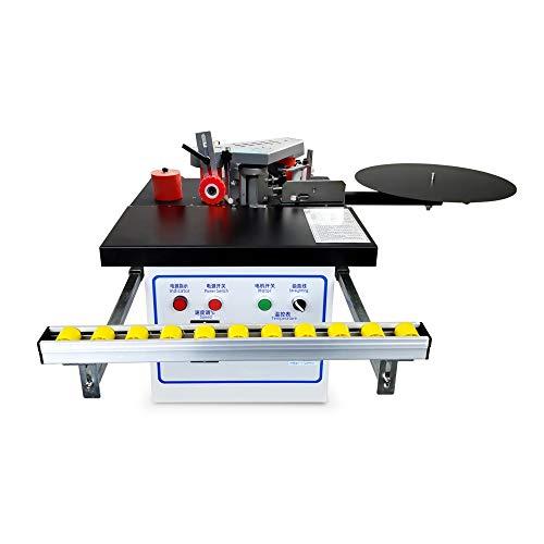 Encoladora de cantos para carpintería Encoladora de cantos con pegamento de doble cara, Máquina automática de canteado en caliente con control de velocidad 2-6 m/min