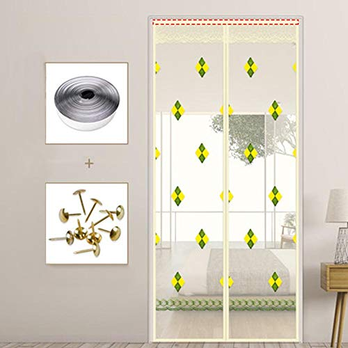 Magnetic Fly Screen Door, Anti-mosquito Curtain, Super Quiet Stripes Encryption, Keep Bug Out Let Fresh Air In for Balcony Sliding Living Room Children's Room/B / 190 * 220cm