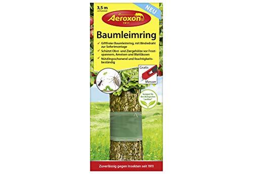 Aeroxon Baumleimring - 1 bis 10 Stück - 3.5 Meter inklusive Bindedraht und Gratis Teppichmesser (1)