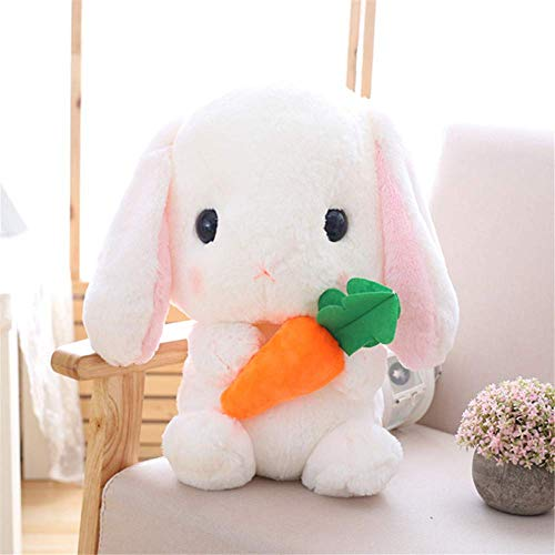 Creativo juguete de peluche animal lindo lop orejas conejo almohada bebé calmante muñeca niños regalo marrón 75cm