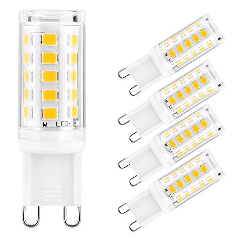 G9 LED 5W Warmwit Geen Flikkering G9 LED-lampen Vervangen voor 40W 50W Halogeenlampen, 500 Lumen, 3000K, 360 ° Straalhoek G9 lamp LED Spaarlamp Niet Dimbaar, 5 Pack