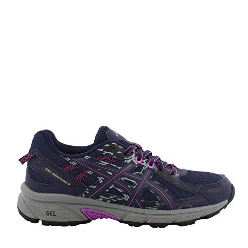 ASICS Women's Gel-Venture 6 Running Shoe, Peacoat Orchid, 7 M US