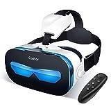 Canbor VR ゴーグル スマホ VRヘッドセット iPhone android VRグラス 3D メガネ 動画 ゲーム コントローラ リモコン 4.0-6.3インチのスマホ対応
