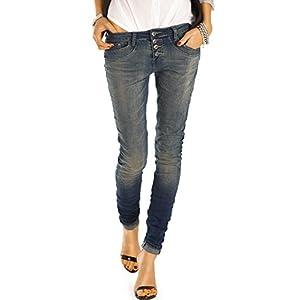 bestyledberlin Damen Boyfriend Jeans Blau