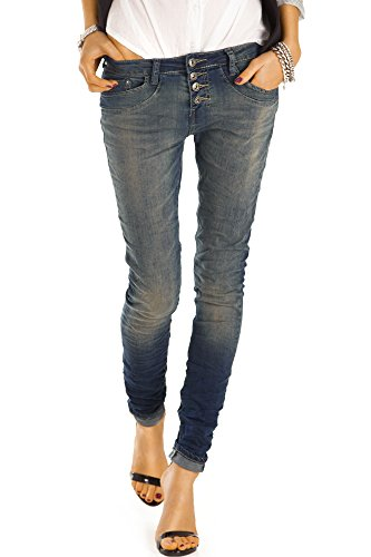 bestyledberlin Damen Jeans, Boyfriend Jeans, Slim Fit Hosen, Stretch Jeanshosen j41f 38/M