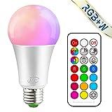 iLC Ampoule LED Couleur Dimmable Changement de Couleur Ampoule 10W E27 Edison RGBW...