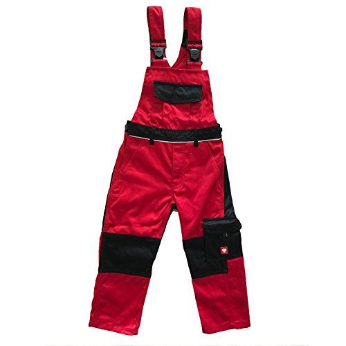 Engelbert Strauss Kinder Latzhose e.s. image, Farbe:rot/schwarz, Größe:110/116-4/6 Jahre