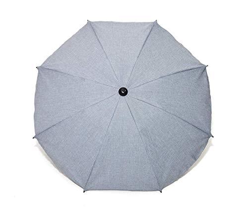 Sombrilla y paraguas universal para carros y sillas de bebé, con soporte universal, protección contra rayos UV 50+ azul azul