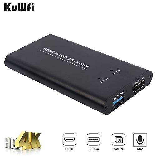 HDMI HD Video Capture, USB 3.0 HDMI Game Capture Karte 1080P 60fps Video Capture Device Card Converters Game Streaming Live Stream Broadcast für Windows Linux Os X Systeme (4 Ports)