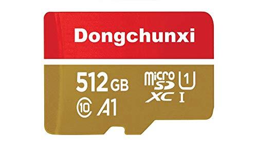 512GB Micro SD Card Memory Card with Adapter MicroSD High Speed Class10,U1,A1,TF-Karte 512gb MicroSD