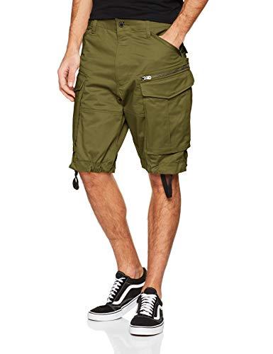 G-STAR RAW Herren Rovic Zip Relaxed 1/2-length Shorts, Schwarz (Sage 724), W36(Herstellergröße: 36W)
