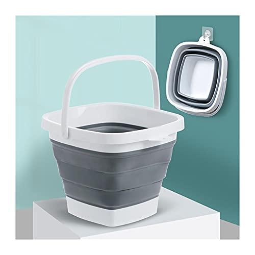 LOEMWJ Cubo plegable plegable con asa, fregadero portátil, cubo de plástico, plegable, para viajes, campamento al aire libre, lavamanos, lavabos plegables (color: S)