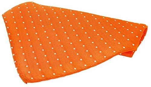David Van Hagen Mouchoir orange Pin Dot Soie de
