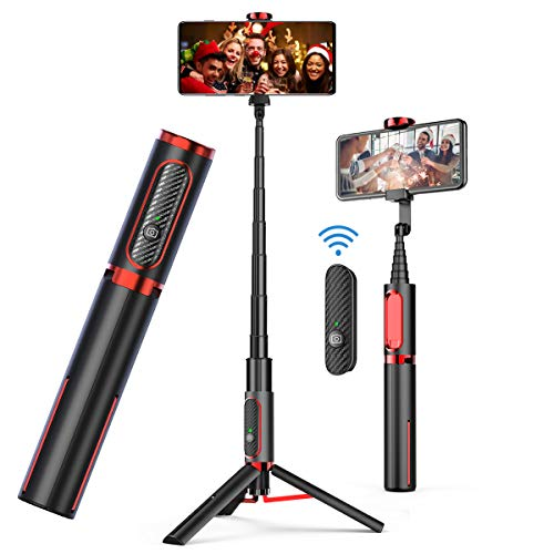 Selfie Stick Tripod, Doosl Bluetooth Selfie Stick with Remote - Wireless Selfie Stick Tripod for Apple & Android Devices - Portable & Lightweight Home Travel Use Tripod Selfie Stick