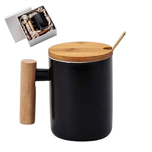 Bambooware Coffee Mug Gift Set - Tea Cup| Ceramic Wooden Bamboo Drinkware | Gifts for Mom | Gifts...