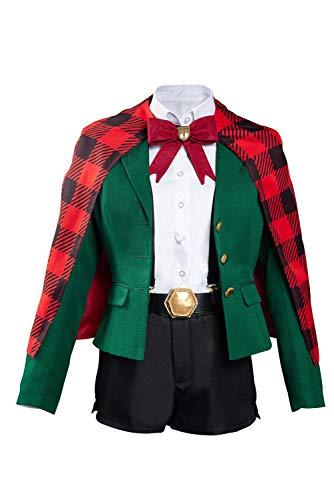Harrypetter Disfraz de Ninny Spangcole para Mujer Witch Cosplay Uniforme Escolar Japons Chaqueta Pantalones Cortos Capa Conjunto Completo Verde, XL