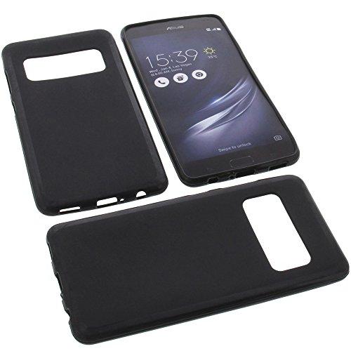 foto-kontor Tasche für Asus ZenFone AR ZS571KL Gummi TPU Schutz Handytasche schwarz