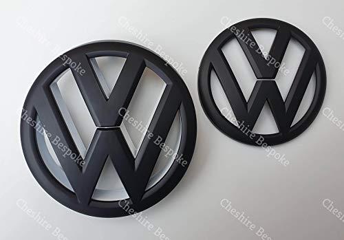 Golf MK6 VI Kühlergrill- und Kofferraum-Emblem, matt, Schwarz, Weiß