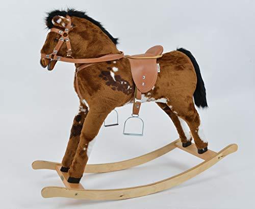 Mini Kids Caro Cheval à Bascule en Bois et Peluche Rocking Horse Schaukelpferd from ALANEL