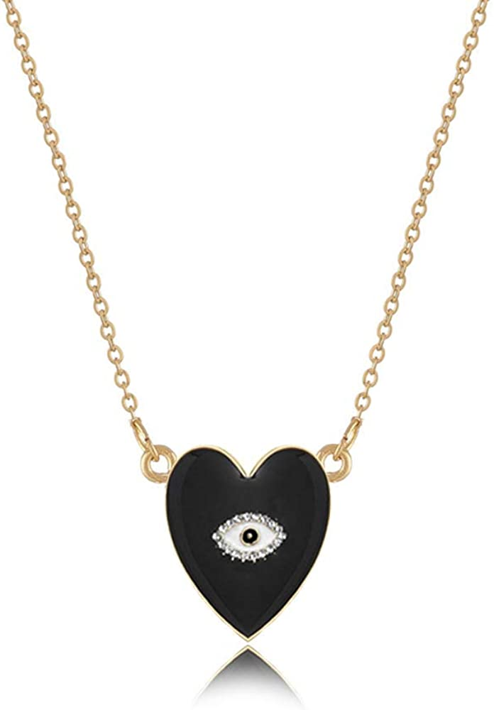 Bohemian Fashion Multicolor Crystal Evil Eye Necklace Necklace Collar Golden Pearl Party Jewelry
