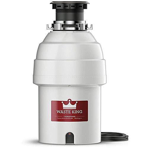Waste King Legend Series 1 HP Continuous Feed Garbage Disposal with Power Cord - (L-8000) (Renewed)