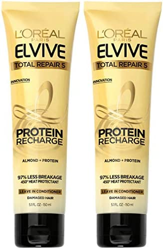 L Oreal Paris Hair Care Elvive Total Repair 5 Protein Recharge Leave In Conditioner Hair Treatment product image