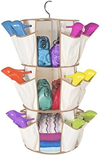 3 Tier Smart Carousel Organizer Storage Closet Shoe Handbag