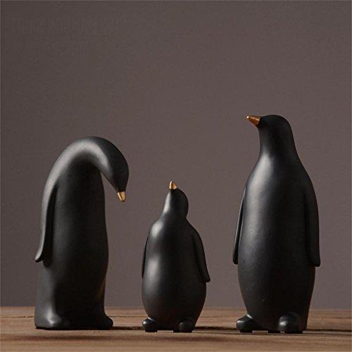 Decoration Jack Mall- Salon résine Artisanat créatifs pour la Maison Ornements Ornements d'ameublement Minimaliste Pingouin Ornements Modernes