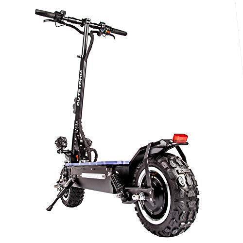 OUTSTORM Folding Electric Scooter for Adults, 56MPH Top Speed, 53 Mile Max Distance - Hydraulic Shocks, Portable and Foldable with Heavy Duty Off-Road Tires with a Seat
