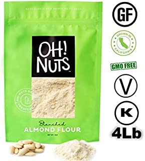 Oh! Nuts Blanched Almond Flour | Gluten-Free, Extra Fine Baking Delights | 4lb..