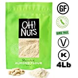 Oh! Nuts Blanched Almond Flour for Gluten-Free, Super Fine Baking | 4 Lbs. Bulk Wheat Substitute for...