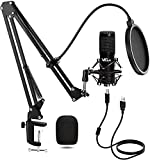 VeGue - Micrófono de Condensador, Kit de Micrófono de Grabación USB, Conjunto de Chips de Sonido Profesional para Podcast, Juegos, PC Karaoke, Voz en Off, VG016