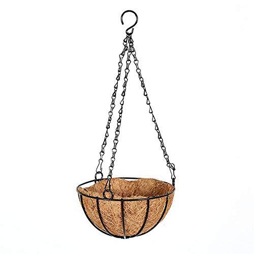 Wangjia Cesto di Fiori appesi Coco Coconut Liner Cestino di Appendere, Vaso di Piante appese, vasi...