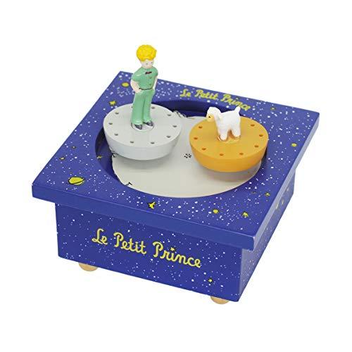 Trousselier - Der kleine Prinz Saint Exupery - Tanzende Musikbox - Spieluhr - 2 abnehmbare Figuren - Einfache Bedienung - Musik Mozarts Kleine Nachtmusik - Farbe königsblau