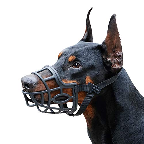 Dog Muzzle, Breathable Basket Muzzles for Small, Medium, Large and X-Large...