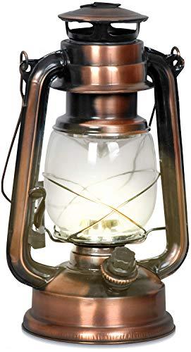 Eaxus Nostalgie Retro Farol con 15 LEDs y asa giratoria en decoración...