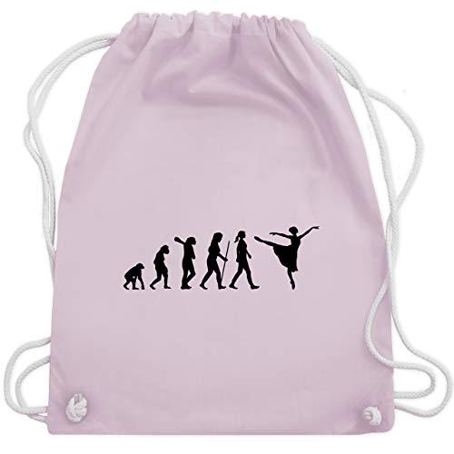 Shirtracer Evolution - Ballett Evolution Arabesque - Unisize - Pastell Rosa - turnbeutel ballett - WM110 - Turnbeutel und Stoffbeutel aus Baumwolle
