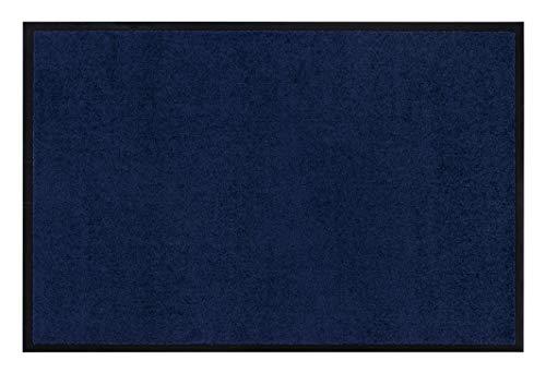 andiamo Eingangsbereich in/Outdoor – Rutschhemmend Waschbar Fußmatte, Polyamid, dunkelblau, 40 x 60 cm